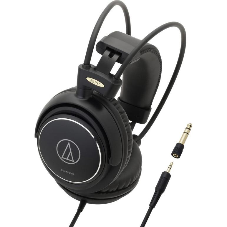 Fotografie Casti Audio Over the Ear Audio Technica ATH-AVC500, Cu fir, Negru
