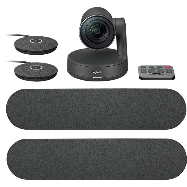 Fotografie Sistem videoconferinta Logitech Rally Ultra-HD 4K ConferenceCam Plus, Zoom 15X, Dual Speaker & MicPod