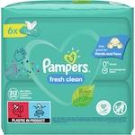 Мокри кърпички Pampers Fresh Clean, 6 пакета x 52, 312 бр