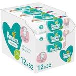 Мокри кърпички Pampers Sensitive, 12 пакета x 52, 624 броя