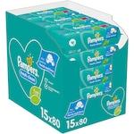 Мокри кърпички Pampers Fresh Clean, 15 пакета x 80, 1200 броя