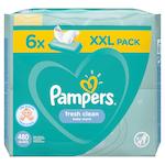 Pampers Fresh Clean Babatörlőkendő, 6 csomag x 80 db, 480 darab