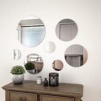 vidaXL 7 darabos kör alakú falitükör-készlet