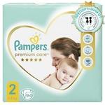 Пелени Pampers Premium Care Jumbo Pack, Размер 2, 4–8 кг, 94 броя
