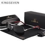 Мъжки авиаторски очила KINGSEVEN, сребриста рамка
