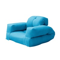 Трансформиращо се пуф футон кресло coolinsky® Hippo, Аквамарин