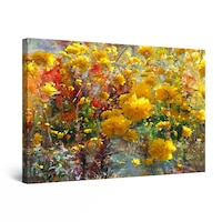 Картина Startonight DualView Beautiful Yellow Flowers Painting, светлина в тъмнотo, 60 cm x 40 cm