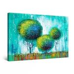 Картина Startonight DualView Abstract Three Rainbow TreesGreen Teal, светлина в тъмнотo, 30 cm x 20 cm