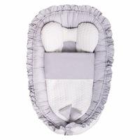 Belisima Luxus babafészek paplannal kisbabák számára Nyuszi szürke CA35303