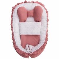 Belisima Babafészek paplannal kisbabák számára Angel Baby rózsaszín CA37317