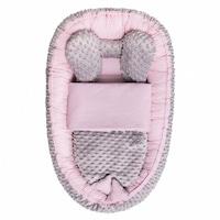 Belisima Babafészek paplannal kisbabák számára Minky Sweet Baby rózsaszín CA35299