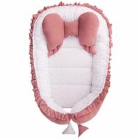 Belisima Babafészek kisbabák számára Angel Baby rózsaszín CA37315