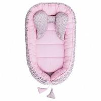 Belisima Babafészek kisbabák számára Minky Sweet Baby rózsaszín CA35282