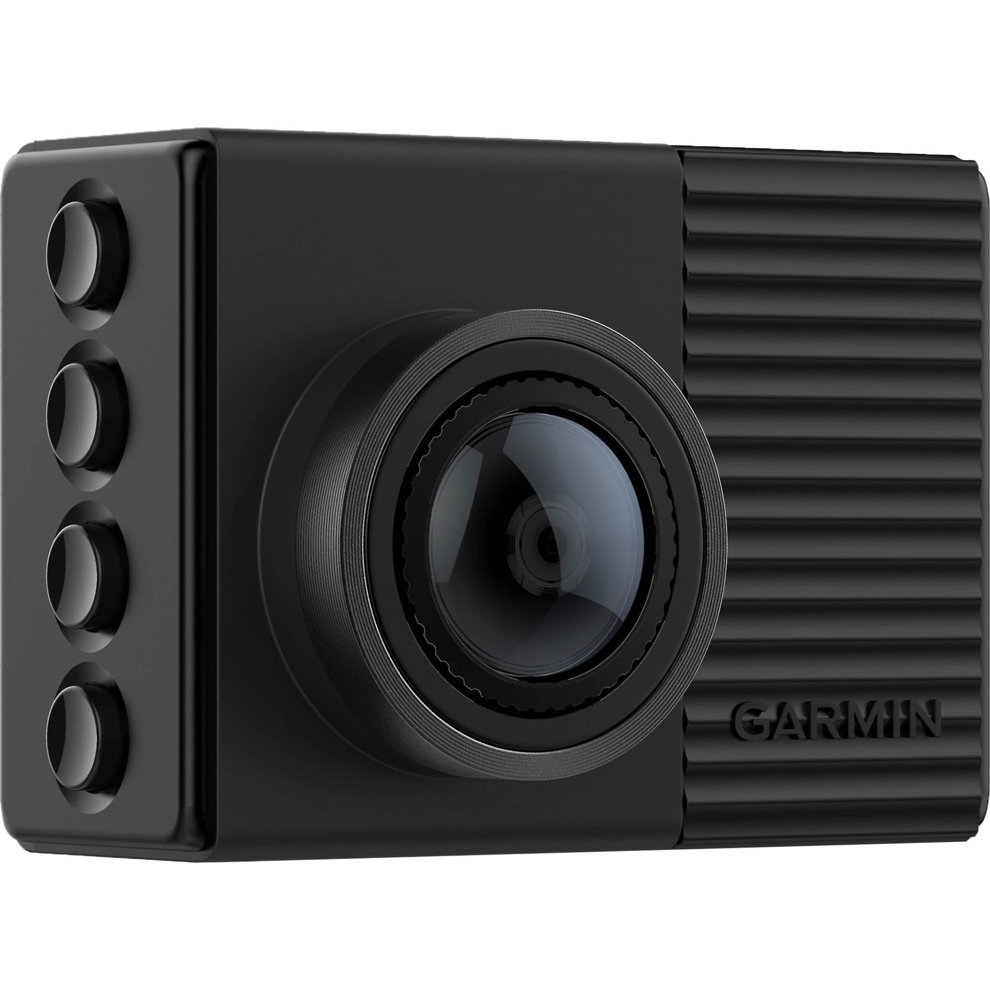 """Fotografie Camera auto DVR Garmin Dash Cam 66W, ecran 2"""", 1440p, 180 grade, Bluetooth, Wi-Fi, Control vocal, G-sensor, Informatii GPS"""