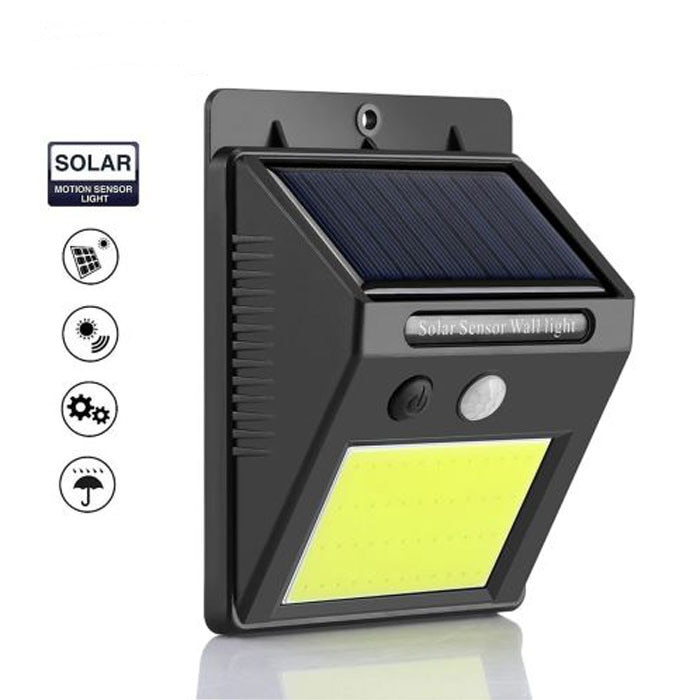 Lampa solara de perete, 48 leduri si senzor de miscare - eMAG.ro