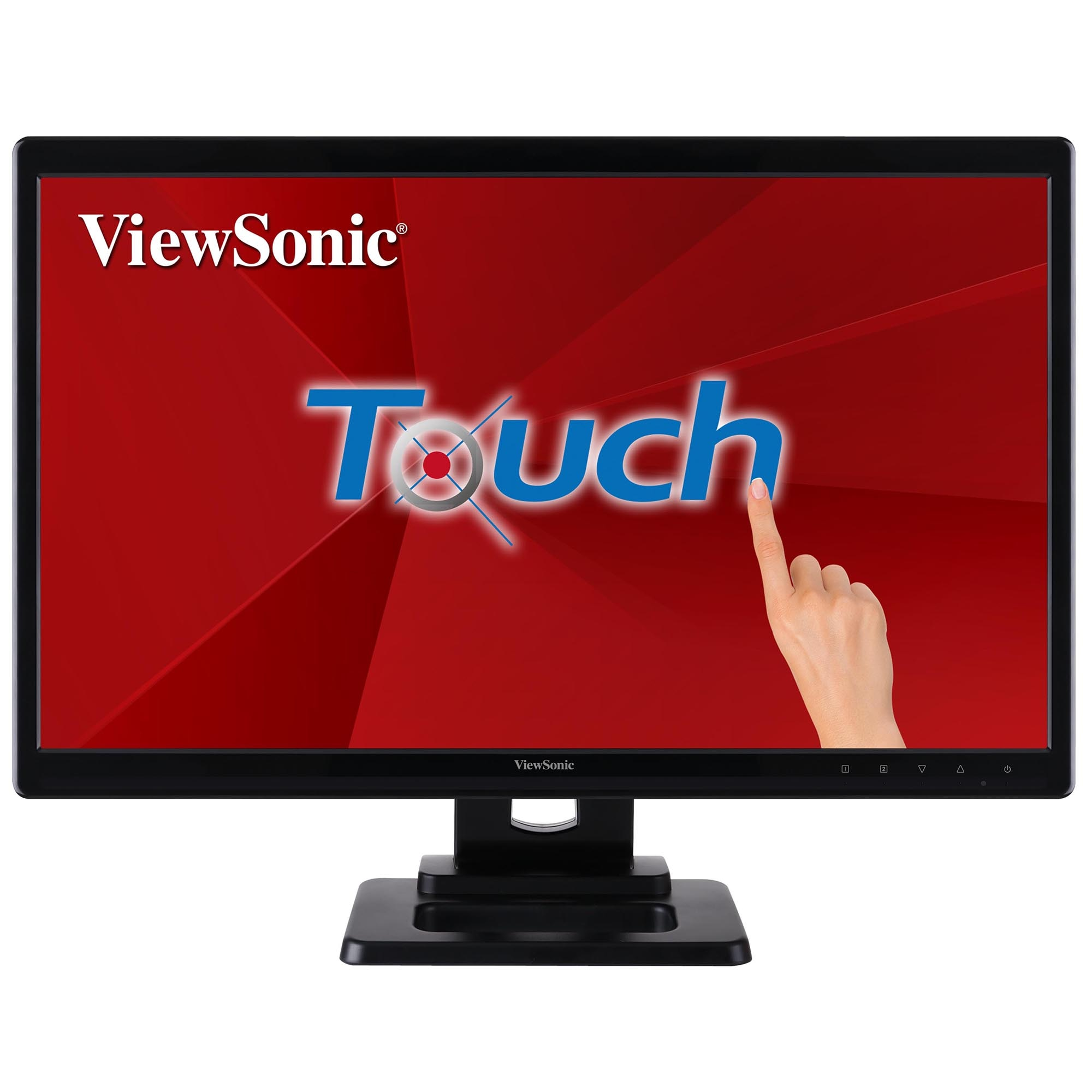 "Fotografie Monitor LED Touchscreen ViewSonic 22"", Full HD, DVI, Negru"