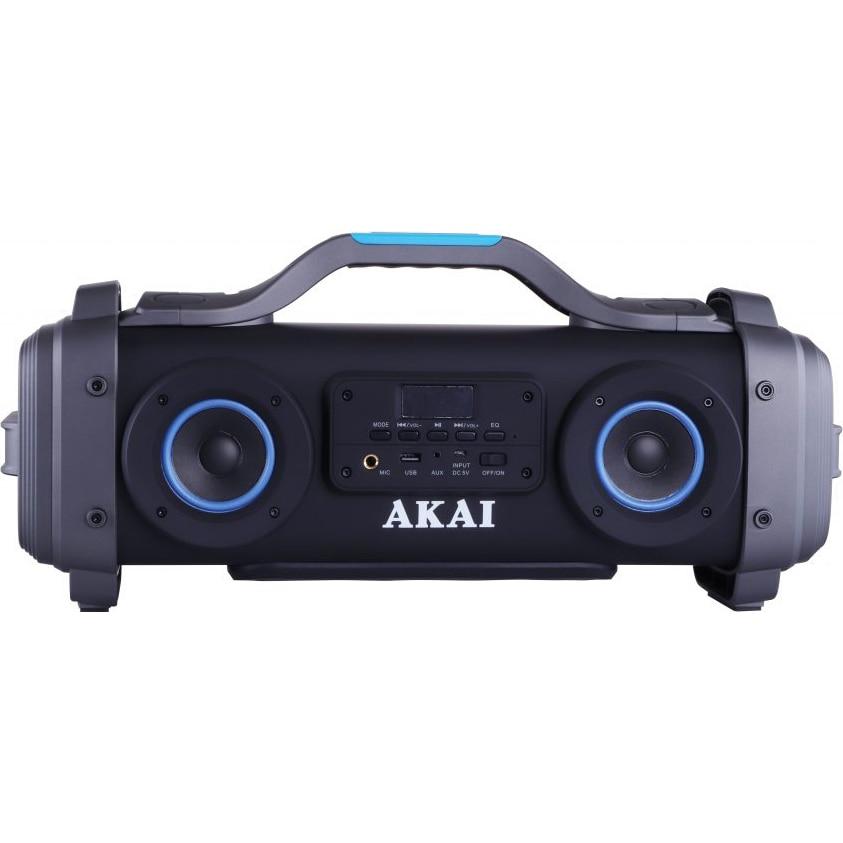 Fotografie Boxa portabila AKAI ABTS-SH01 cu patru difuzoare super blaster , cu functie Karaoke ,Bluetooth , USB , Aux-in 3.5mm , Baterie reincarcabila