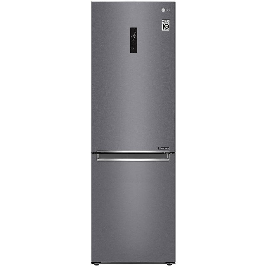 Fotografie Combina frigorifica LG GBP32DSKZN, 384 l, Clasa E, Full NoFrost, Compresor linear inverter, Display, DoorCooling, SmartDiagnosis, NatureFresh, H 203 cm, Gri