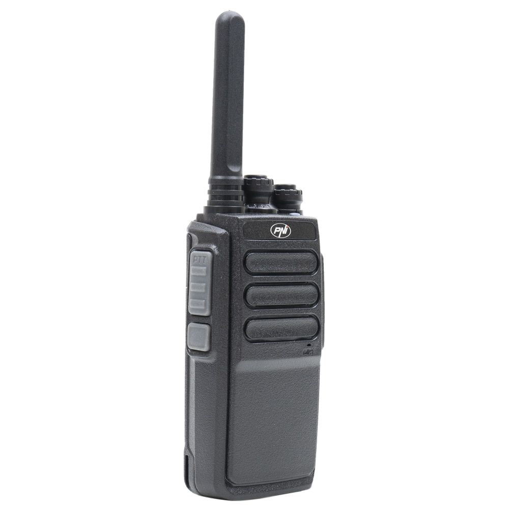 Fotografie Statie radio portabila PNI PMR R30 Pro, 1 buc, acumulator 1200 mAh, ASQ, Scan, TOT, Monitor, port micro USB, incarcator si casca incluse