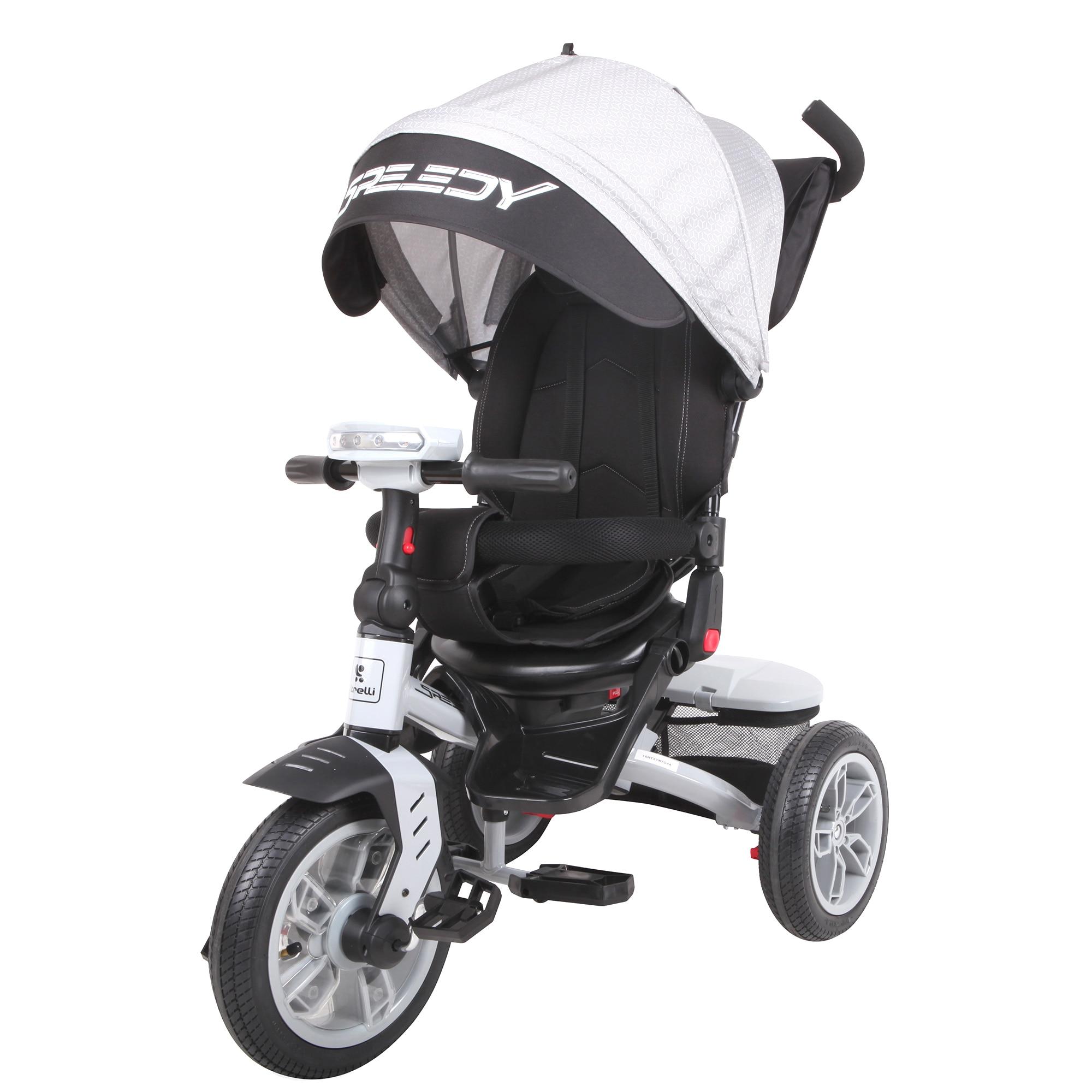 Fotografie Tricicleta Lorelli Premium - Speedy 4 in 1, Grey & Black