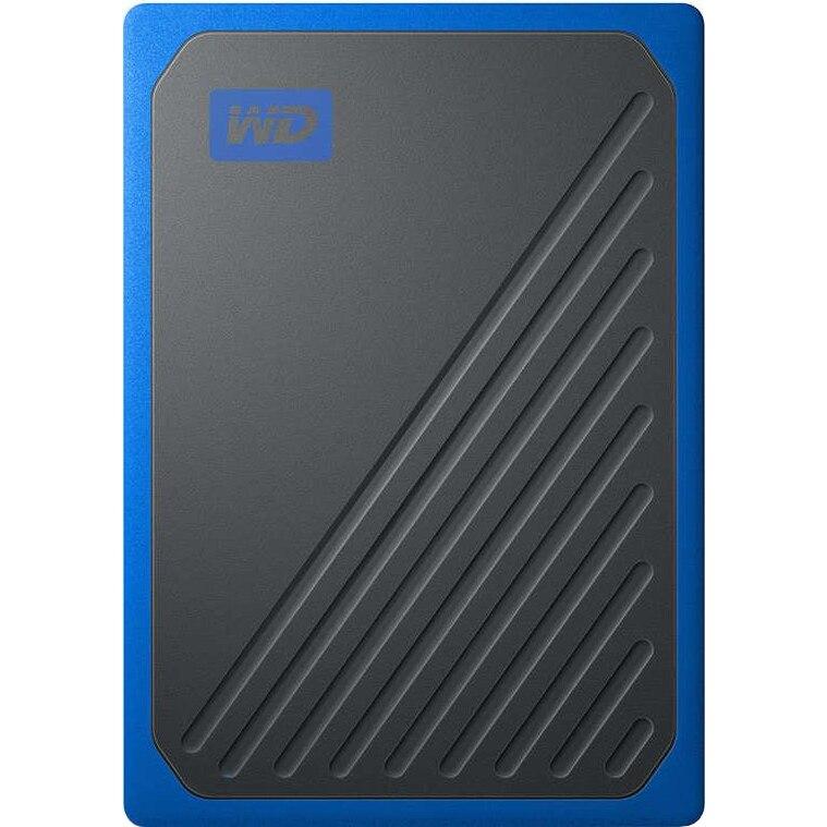 Fotografie SSD Extern WD My Passport GO 1TB, USB 3.0, Negru/Albastru