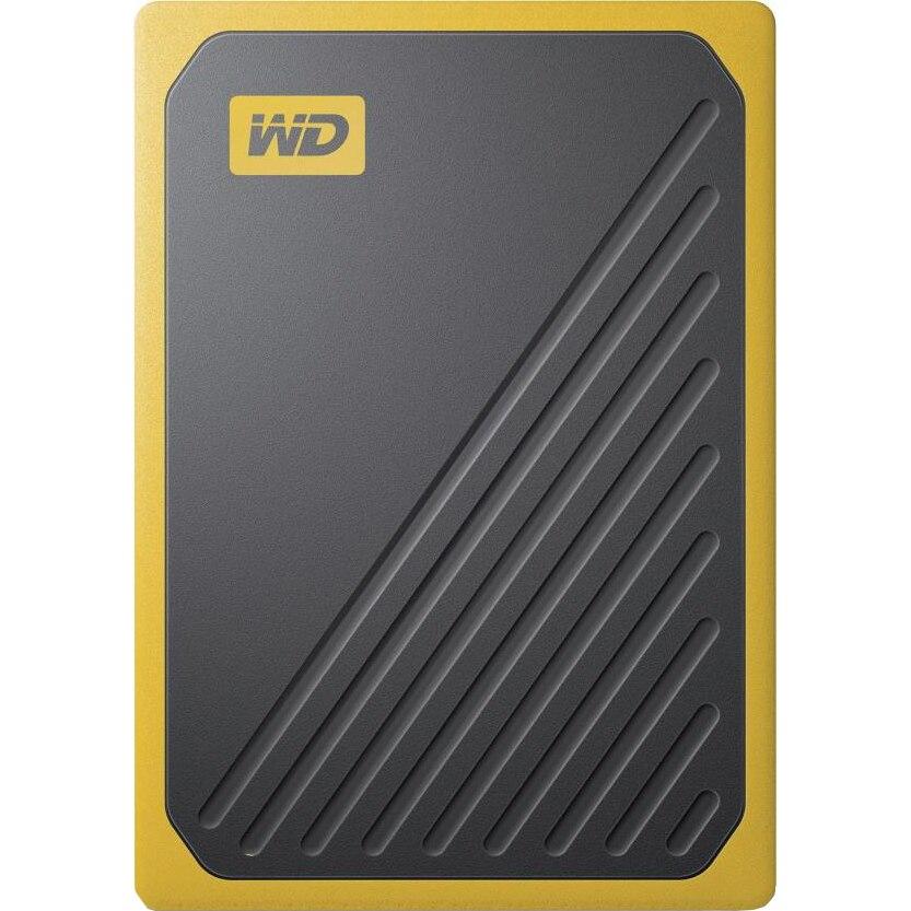 Fotografie SSD Extern WD My Passport GO 1TB, USB 3.0, Negru/Galben