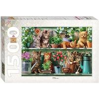 Пъзел Step - Kittens in the Shelf, 1.500 части (60346)