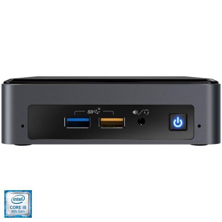 Fotografie Mini PC Barebone Intel® NUC BEAN CANYON NUC8i5BEK2 cu procesor Intel® Core™ i5-8259U pana la 3.80GHz, Coffee Lake, fara RAM, fara stocare, Intel® Iris® Plus Graphics 655, No OS