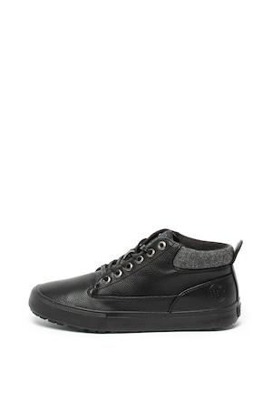 BIG STAR, Középmagas szárú műbőr cipő, Fekete, 44