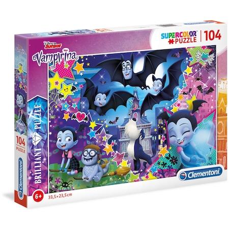 Puzzle Clementoni SuperColor Brilliant Puzzle Disney Junior Vampirina, 104 piese