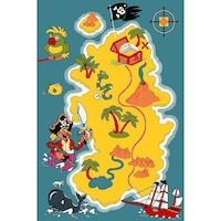 Детски килим Kamko Play с пирати, многоцветен, 240/340