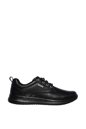 Skechers, Antigo vízálló bőrcipő, Fekete, 42.5
