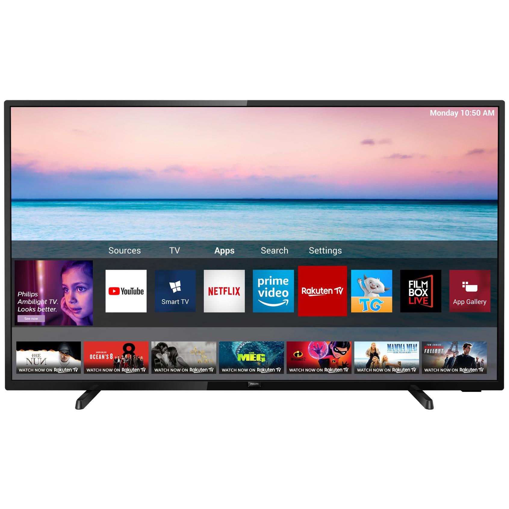 Fotografie Televizor LED Smart Philips, 126 cm, 50PUS6504/12, 4K Ultra HD, Clasa A+