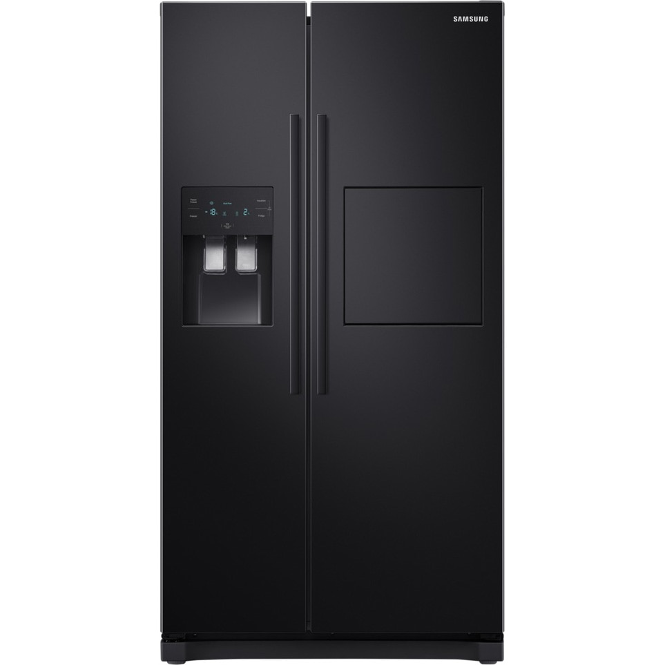 Fotografie Side by side Samsung RS50N3913BC/EO , 501 l, Clasa F, Full NoFrost, Compresor Digital Inverter, All Around Cooling, Display, Dispenser apa si gheata, Negru