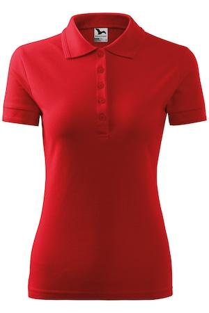 Tricou Polo Pique dama, Rosu, XL