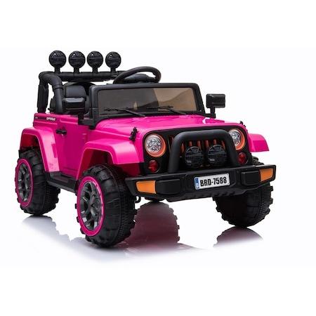 BRD Elektromos kisautó pink 2.4GHz szülői távirányítóval, nyitható ajtóval,EVA kerekekkel