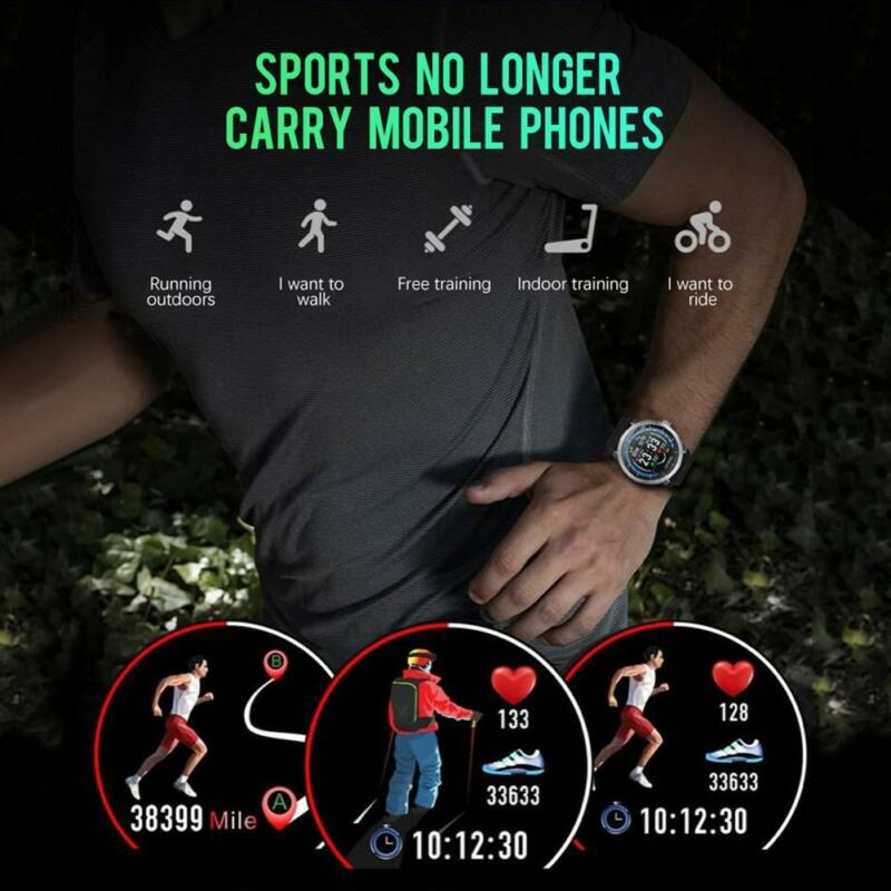Smartwatch n58 férfi óra, vérnyomásmérő, pulzusmérő, bőr..