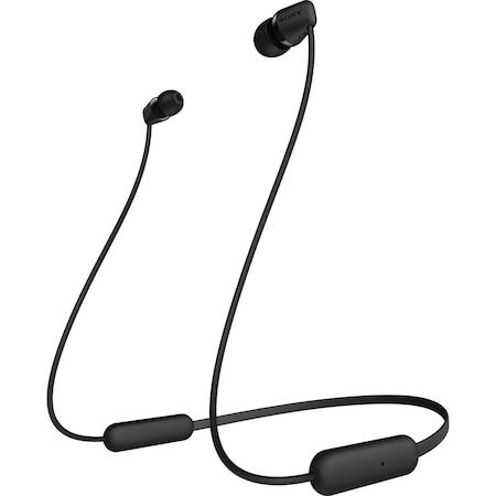 Аудио слушалки Sony WIC200B, Bluetooth, In-Ear, Микрофон, Автономия на батерията 15 часа, Черни/Black