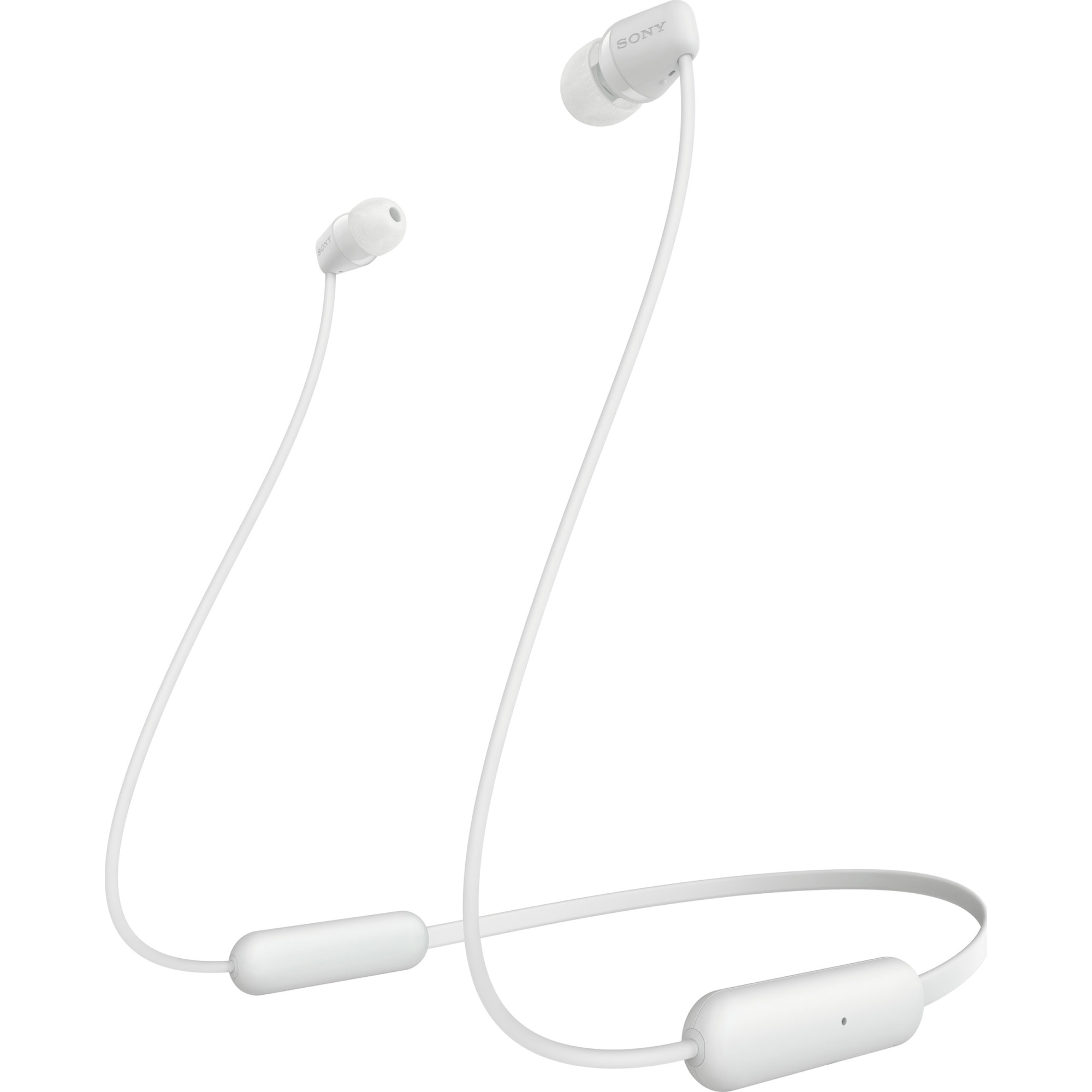 Fotografie Casti SONY WIC200W, Bluetooth, In-Ear, Microfon, Autonomie baterie 15 ore, Alb