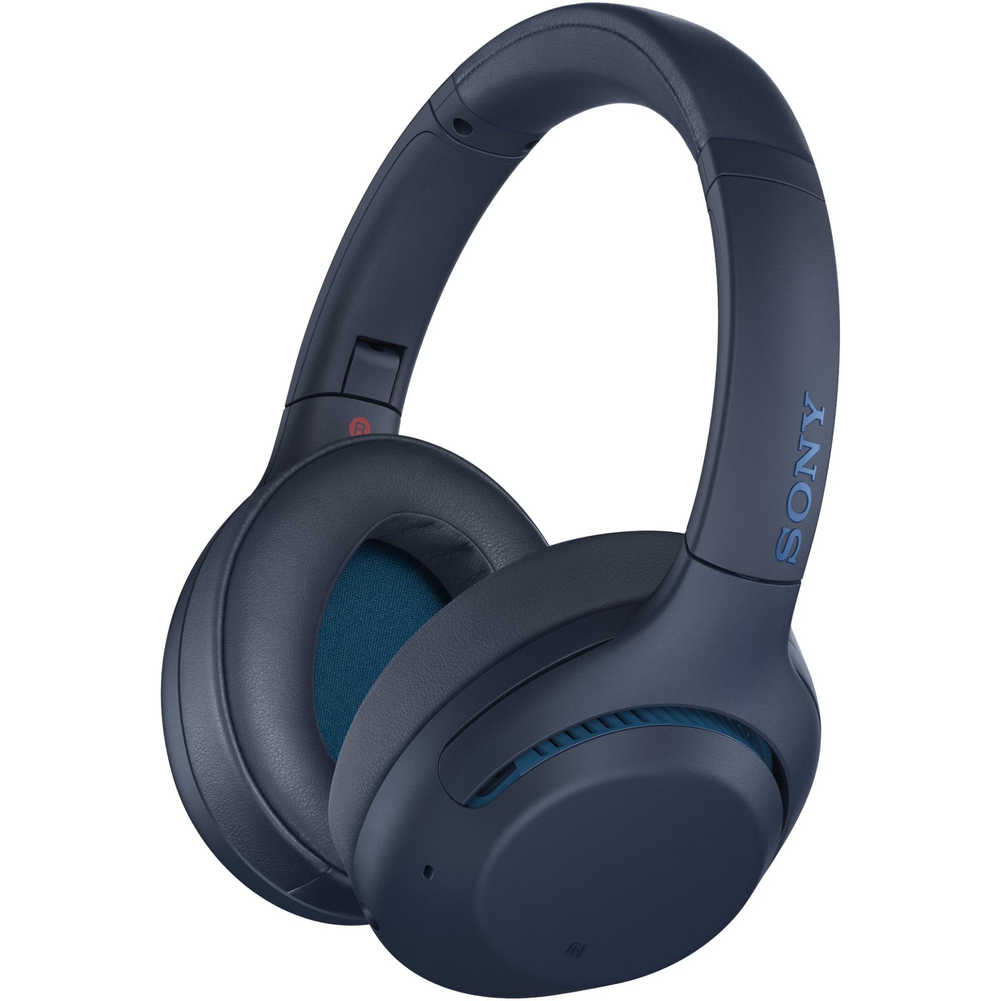 Fotografie Casti Over the Ear Sony WHXB900NL, Wireless, Bluetooth, Albastru