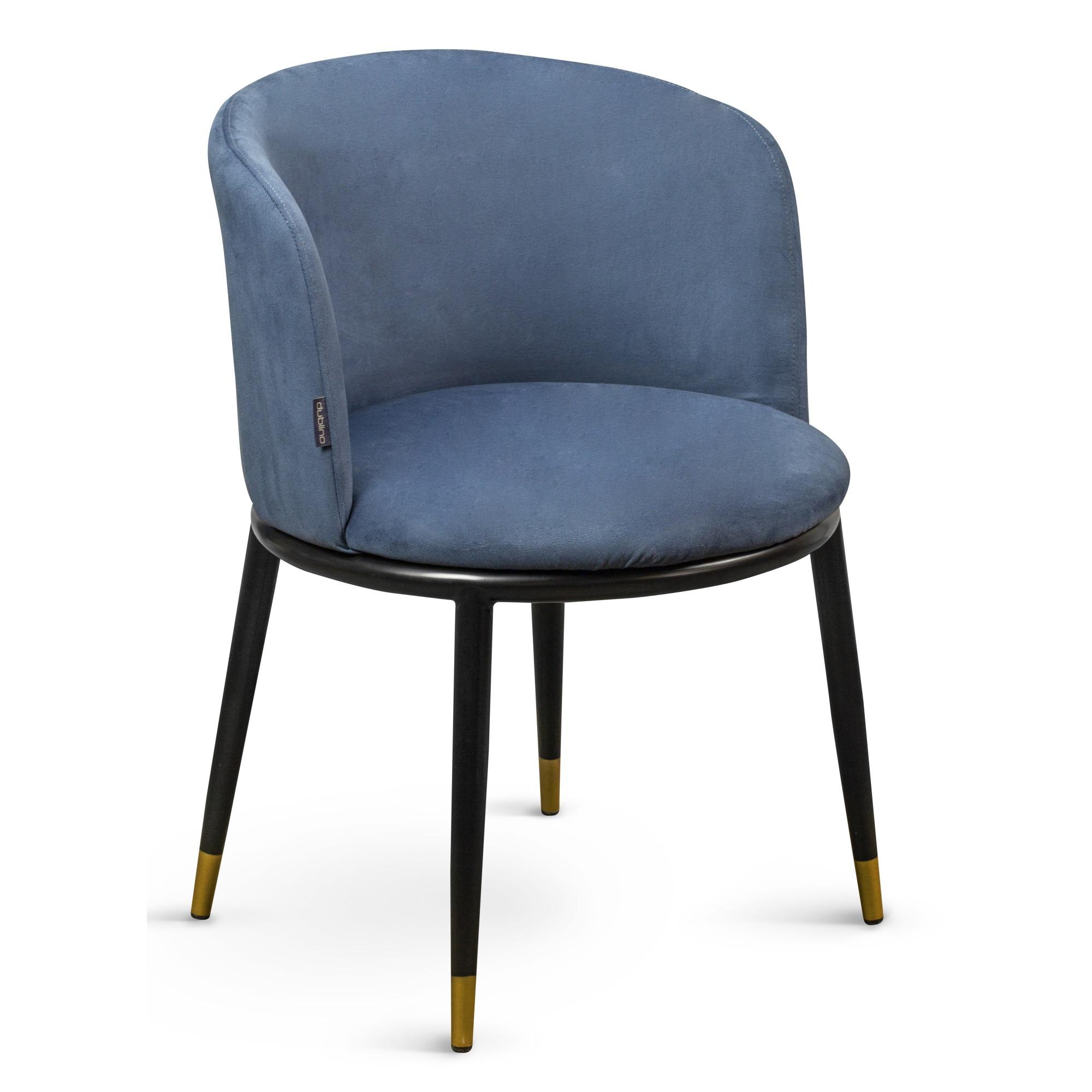 Dublino Dl Moon Navy Blue fém vázas kárpitos szék