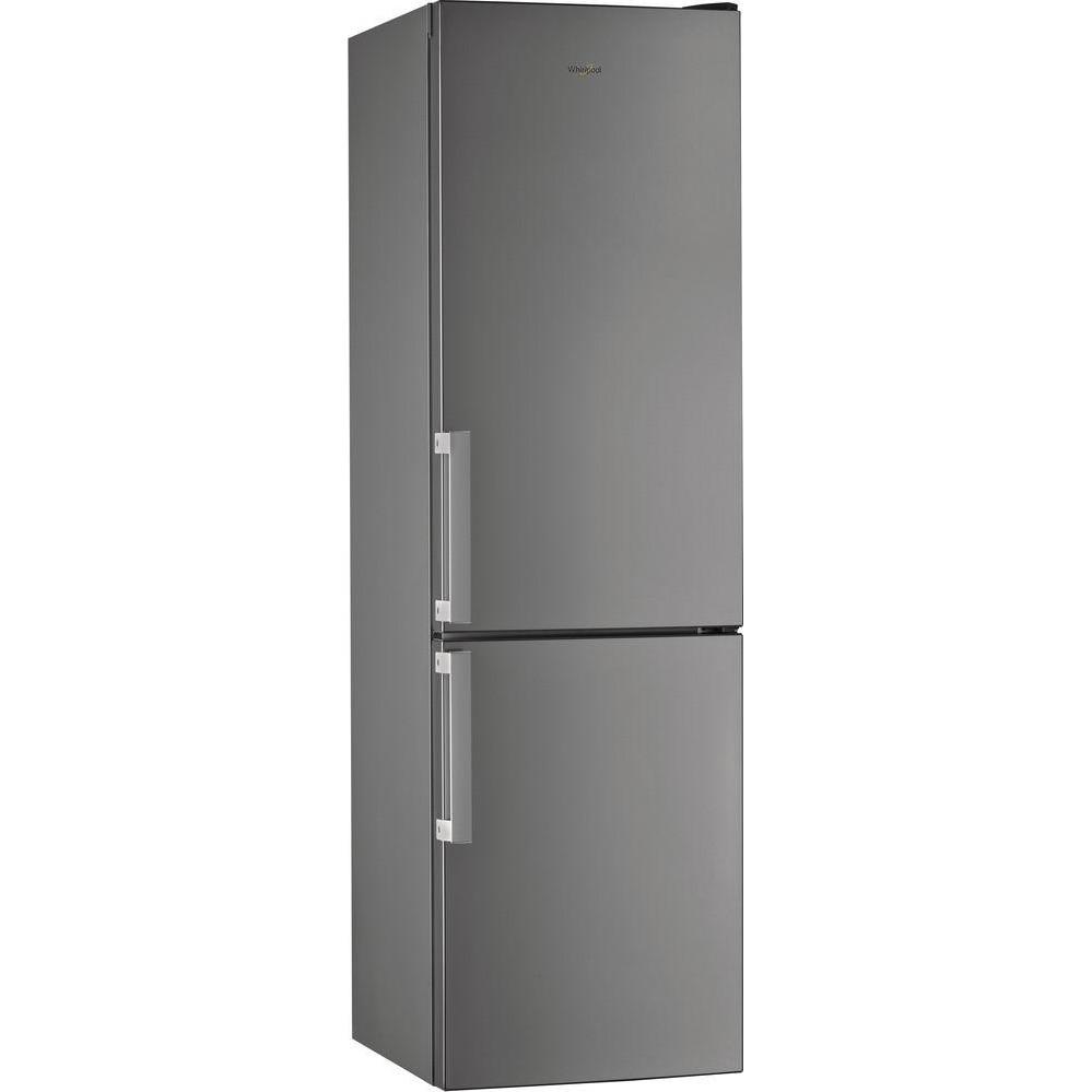 Fotografie Combina frigorifica Whirlpool W7 911I OX, 371 l, Clasa F, Total No Frost, 6th Sense, Display Electronic Interior, H 201 cm, Inox