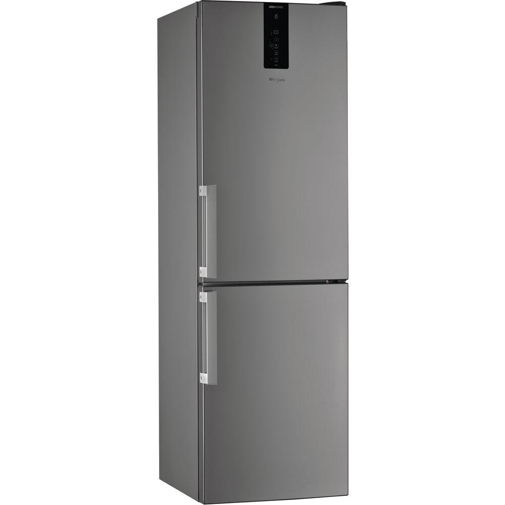 Fotografie Combina frigorifica Whirlpool W9 821D OX H, 318L, Clasa A++, Dual No Frost, 6th Sense, Display Electronic Exterior, H 189 cm, Inox