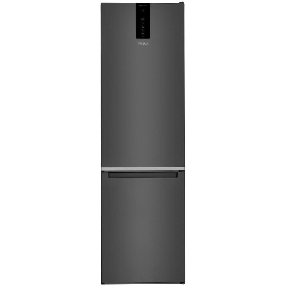 Fotografie Combina frigorifica Whirlpool W9 931D KS, 355 l, Clasa D, Dual No Frost, 6th Sense, Display Electronic Exterior, H 201 cm, Negru