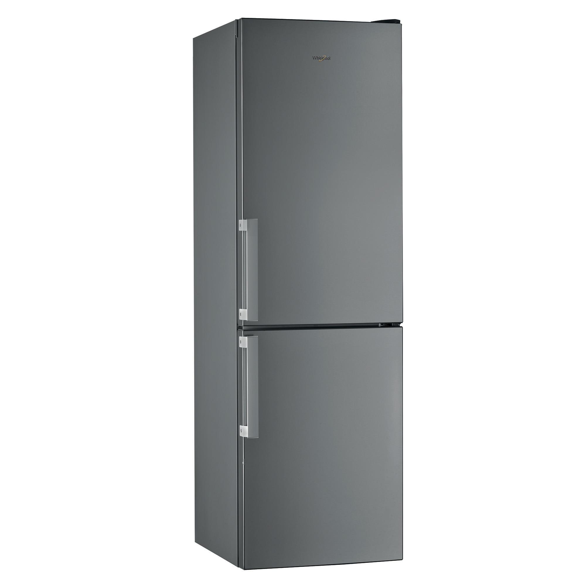 Fotografie Combina frigorifica Whirlpool W5 811E OX H, 339 l, Clasa F, Less Frost, 6th Sense, H 189 cm, Inox