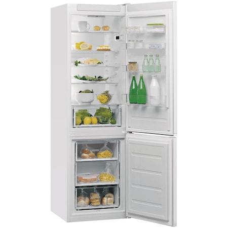 Combina frigorifica Whirlpool W5 911E W, 372 l, Clasa A+, 6th Sense, H 201 cm, Alb