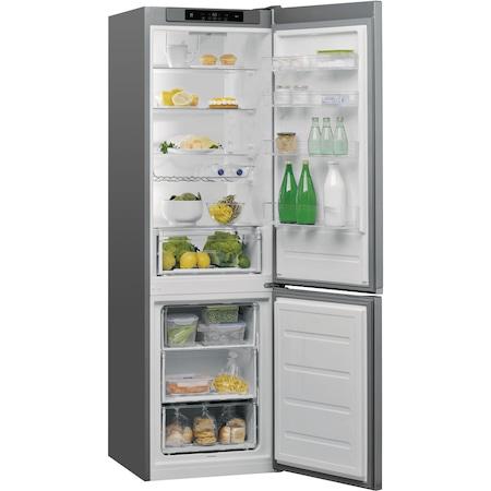 Combina frigorifica Whirlpool W5 921C OX H, 371 l, Clasa A++, 6th Sense, Display Electronic Interior, H 201 cm, Inox