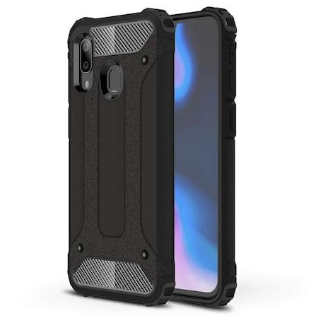 Husa Hibrida Antisoc Forcell Armour pentru Samsung Galaxy A10s (A107), Negru