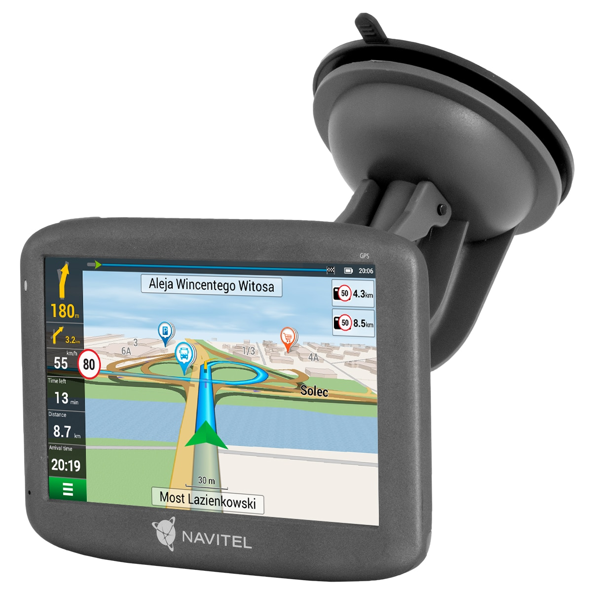 "Fotografie Sistem de navigatie GPS Navitel E505, ecran 5"" suport magnetic, OS Linux, 47 harti FULL EU cu asistent vocal in romana"