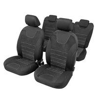 Индивидуални калъфи за автомобилни седалки 5 места, RoGroup, черно